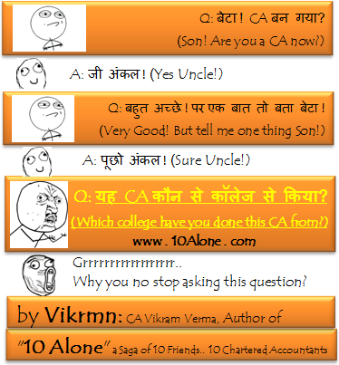 10 Alone by Vikrmn CA from which College CA Vikram Verma