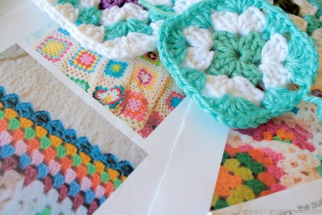 College Granny Square Blanket via homework (5)