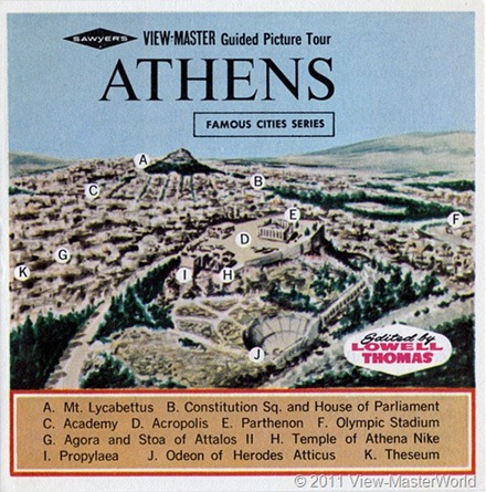 View-Master Athens (B206), Booklet Cover