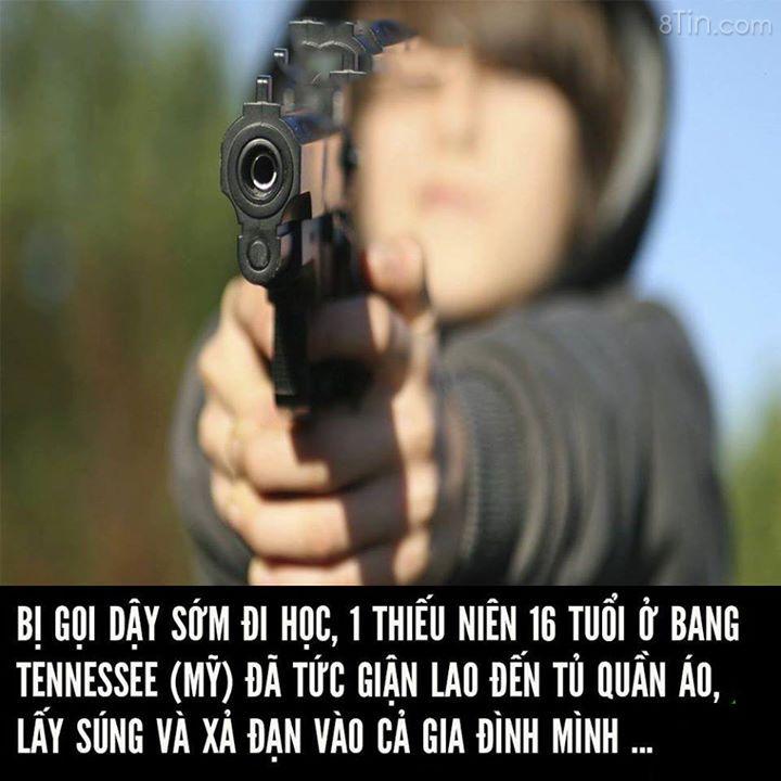 Bị gọi dậy đi học, thiếu niên 16 tuổi xả súng bắn cả nhà: