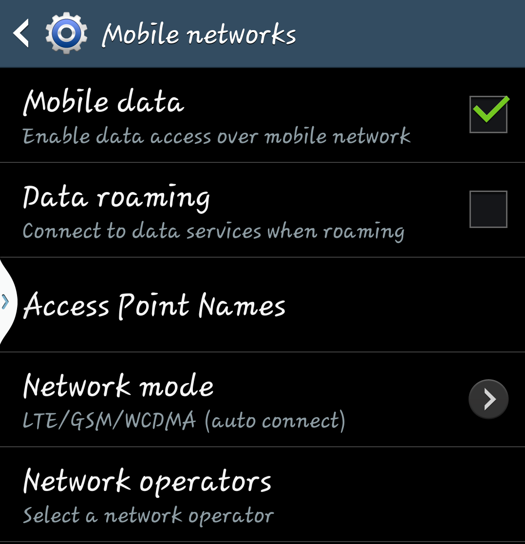 My Galaxy S4: Changing the APN settings? Vodafone