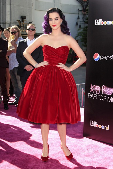 Katy Perry attends the premiere of her new film Katy Perry Part Of Me