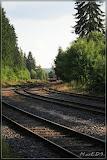 Blick zum Bahnhof von Nové Hamry