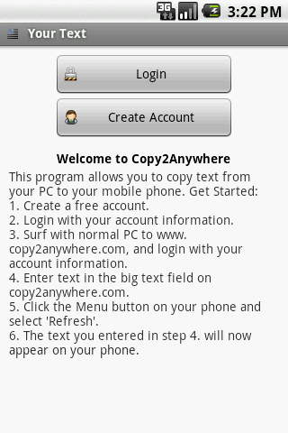 Copy 2 Anywhere - screenshot