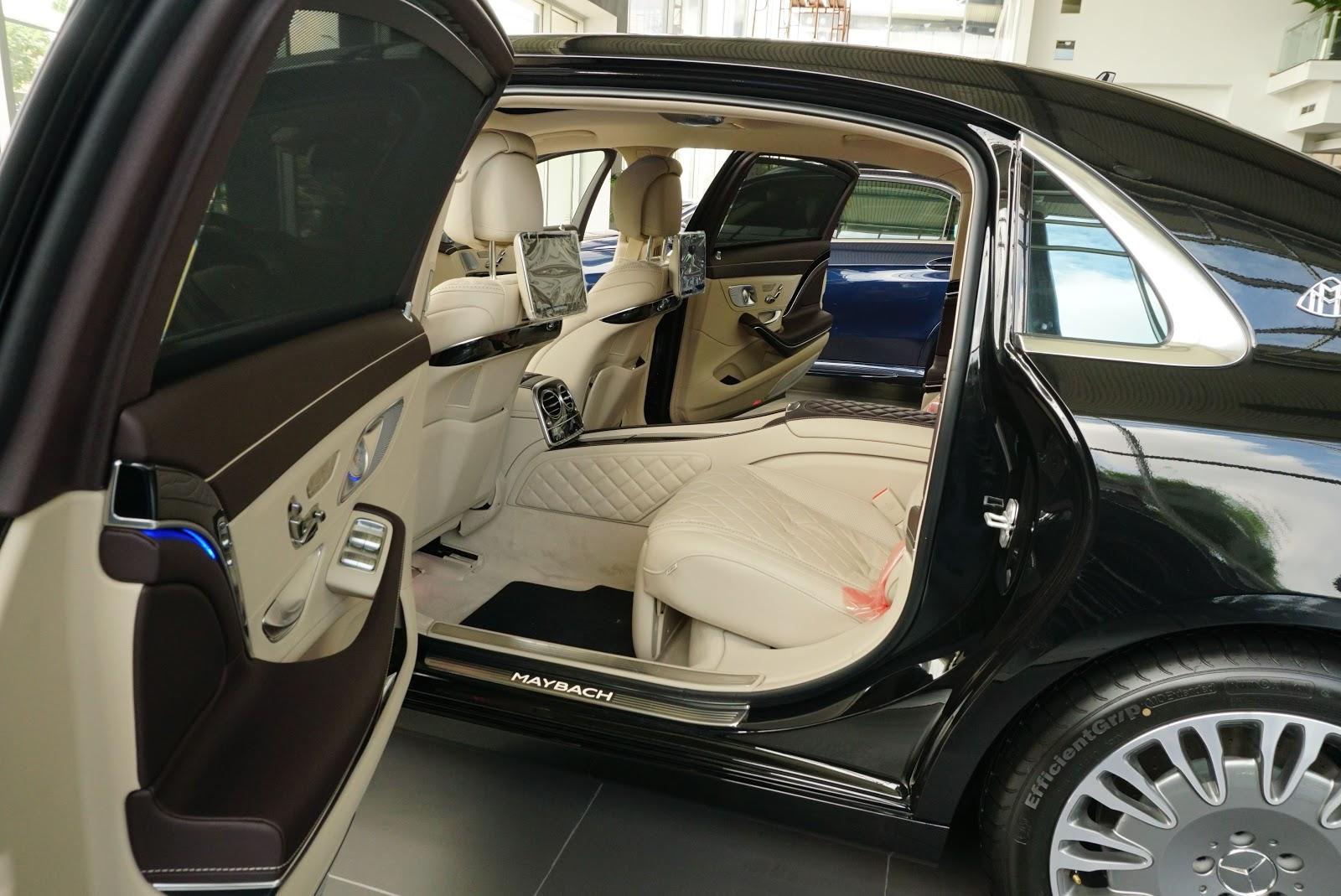Ngoại Thất Xe Mercedes Benz S600 MAYBACH Màu Đen a09
