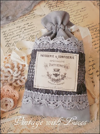 French Fabric Gift Bag