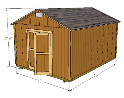 How To 12x12 Shed Free House Plans With Material List 22181 Pingesheds