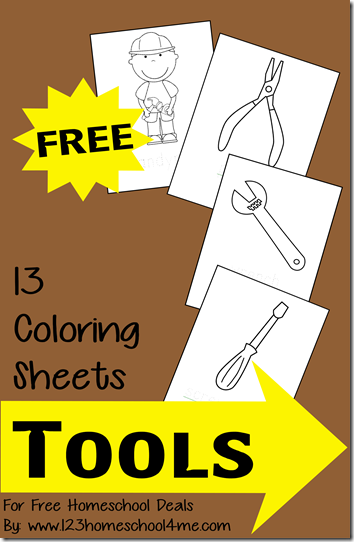 FREE Tools Coloring Sheets for Kids
