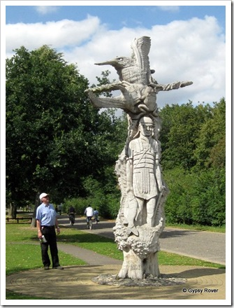 A one tree carving at Ferry Meadows.