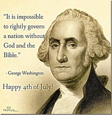 G. Washington- Rightly Govern only by God & Bible