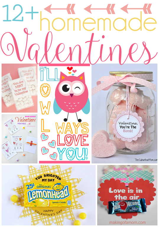 Over 12 Homemade Valentines at GingerSnapCrafts.com #linkparty #features