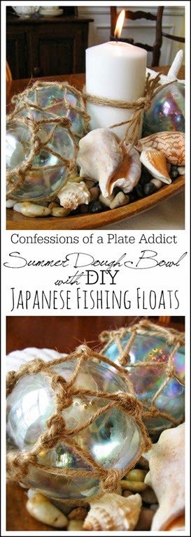 CONFESSIONS OF A PLATE ADDICT Summer  Dough Bowl with  DIY Japanese Fishing Floats