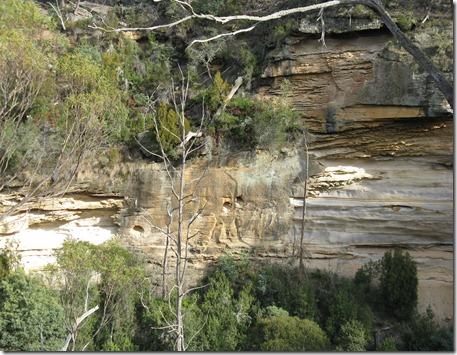 Cliffs on Western side closer view