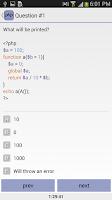 Screenshot of PHP ZCE Practice Exam
