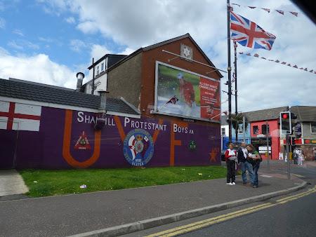 Imagini Irlanda de Nord: steagul britanic in Belfast