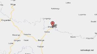 Carte de Shabunda au Sud Kivu