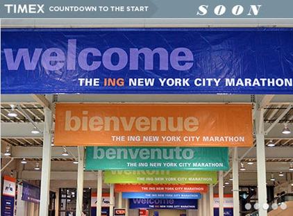 countdown to NYC marathon