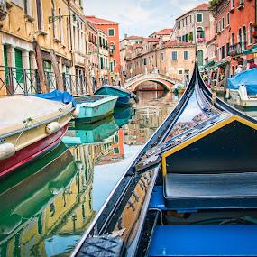 Rio's of Veneza by Chris Pugh - City,  Street & Park  Street Scenes ( water, venezia, gondola, spring, cruise, Spring, springtime, outdoors, device, transportation )