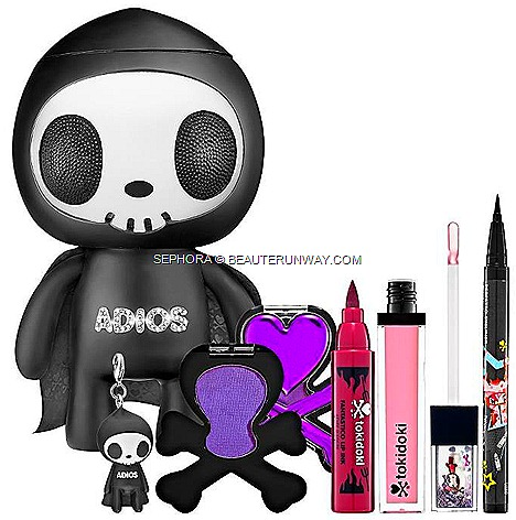 Sephora Bugis Plus   Singapore Tokidoki Soda shop Tin Palette Limited Edition Tokidoki Adios Vinyl Toy Makeup Set  Perfetto Eyeliner Sabochan Cromatico Eye shadow Killer Candy Fantastico Lip Ink Peperoncino Prisma Gloss Ciao Ciao