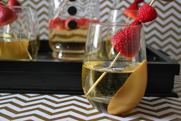 Gold Paint Dipped Wine Glasses