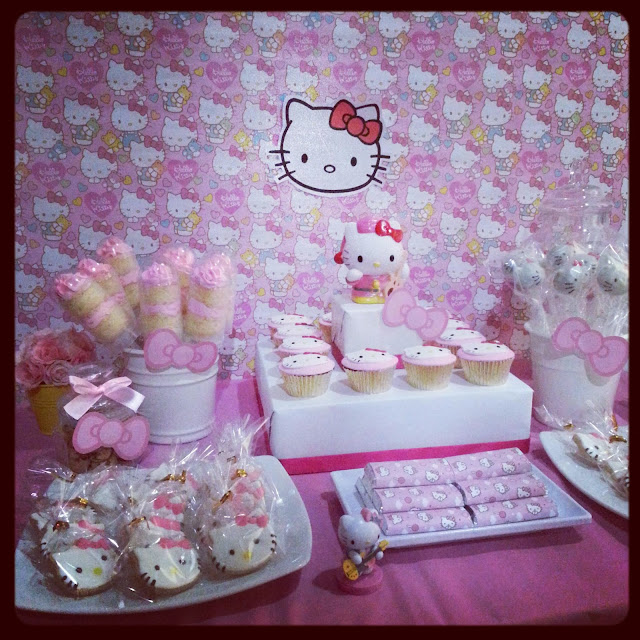 Spatula And Friends Hello Kitty Dessert Table