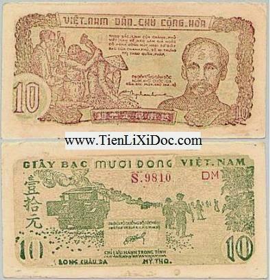 10 Đồng Cụ Hồ 1948(10 đồng long châu sa)