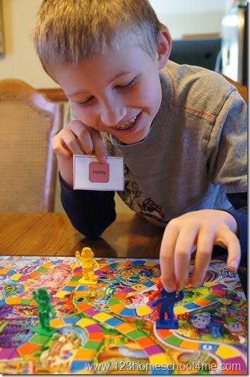 Sight Word Candy land game is fun for kids from Preschool - Kindergarten - 1st grade - 2nd grade - 3rd grade