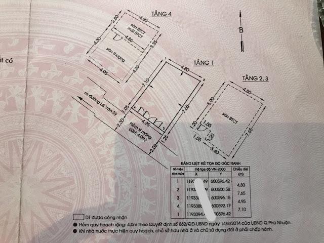 Bán nhà hẻm 2 sẹc Đường Lê Văn Sỹ Quận Phú Nhuận 09