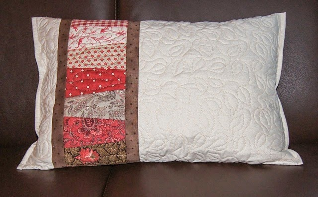 Pillow project for a new class, All Over Quilting in the Embroidery Hoop.