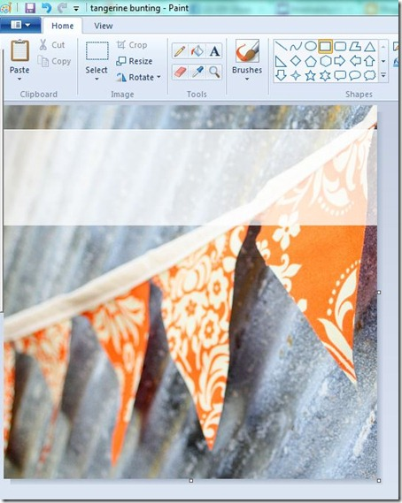 Creating a Pinterest Graphic in Paint - step 4