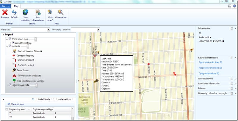 Dynamics AX 2012 and Esri's ArcGIS (Mapping) - Finance and