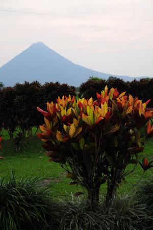 Obiective turistice Costa Rica: La Jardines Arenal, cu vulcanul pe fundal
