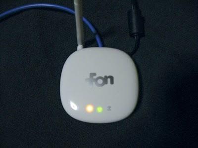 fonの前面の点灯