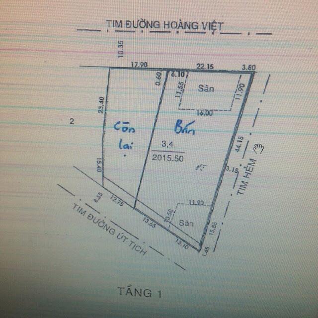 Bán nhà 3 mặt tiền đường Út Tịch Hoàng Việt Quận Tân Bình 03