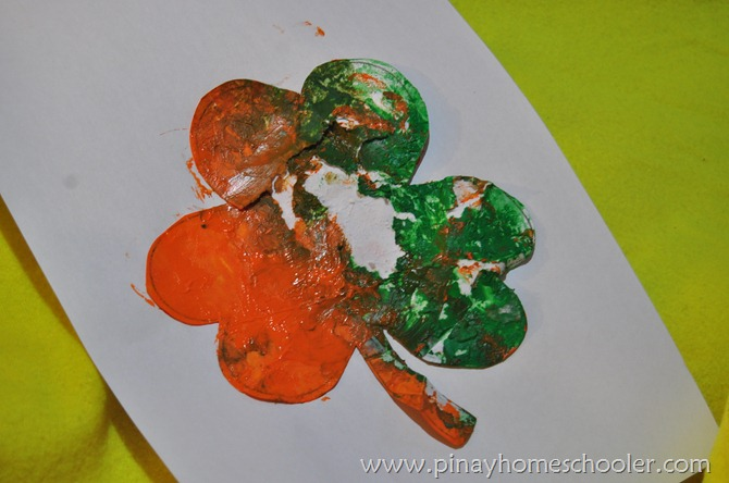 St. Patrick's Activity: Shamrock Painting