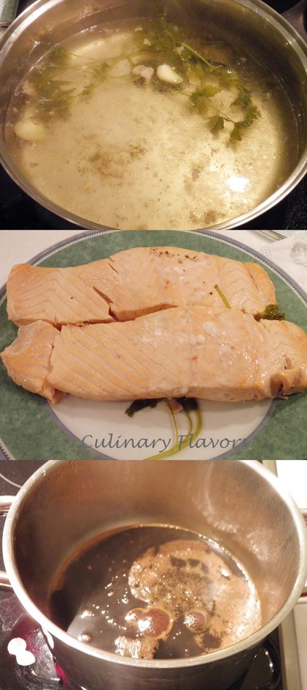 Poached Salmon Teriyaki