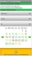 Screenshot of Calendario Turnos Acerinox