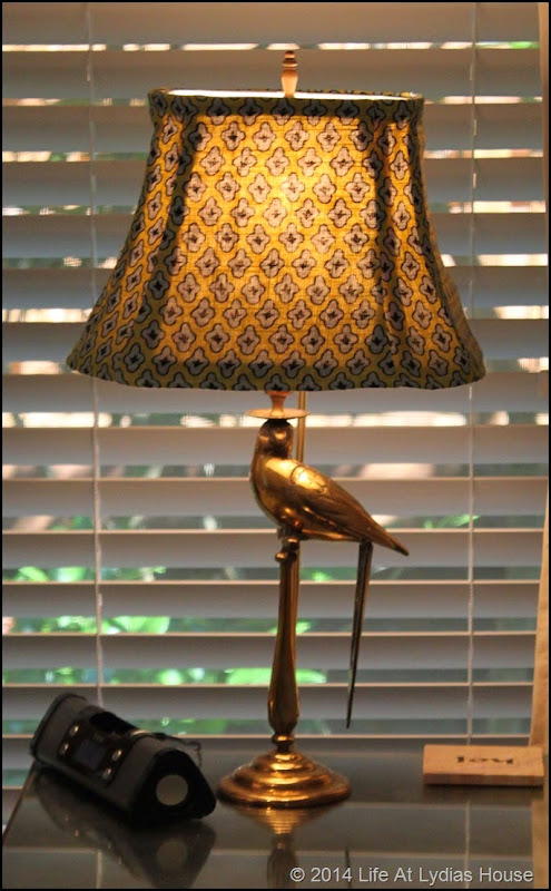 parrot lamps with blu and green shade