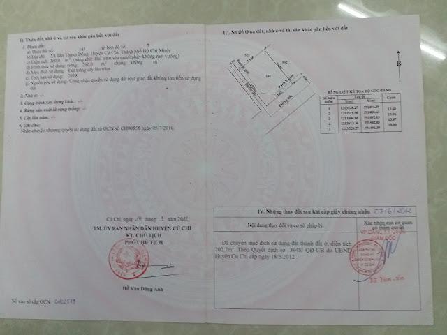 Bán đất thổ cư Ấp 7 xã Tân Thạnh Đông Huyện Củ Chi 05