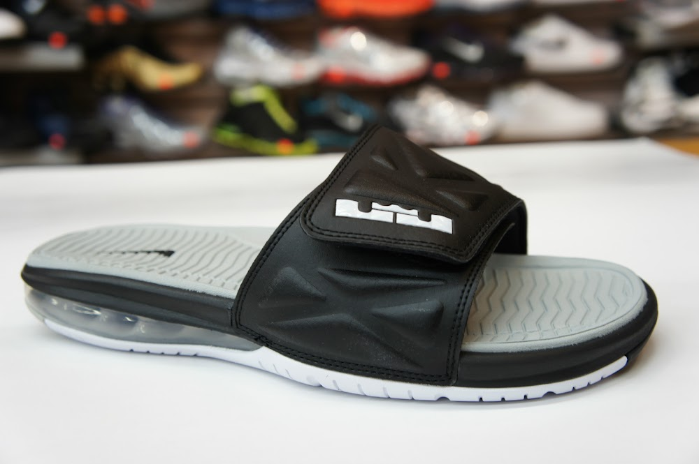 buy popular c4e42 5c923 Nike Air LeBron Slide 20 8211 Black Grey 8211 Available at eBay ...