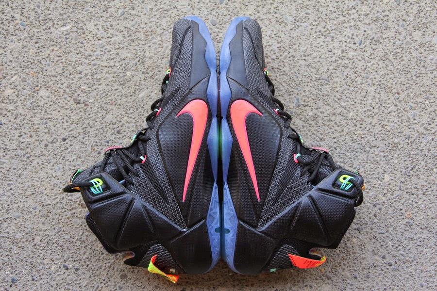 super popular 39210 2f543 Closer Look at Upcoming Nike LeBron XII 12 8220Data8221 ...