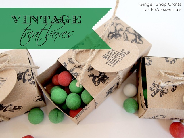 PSA Essentials vintage Christmas treat boxes