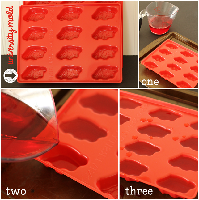 how to make Jell-O Jigglers with a University Mold