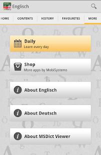 Dictionary German <-> English- screenshot thumbnail