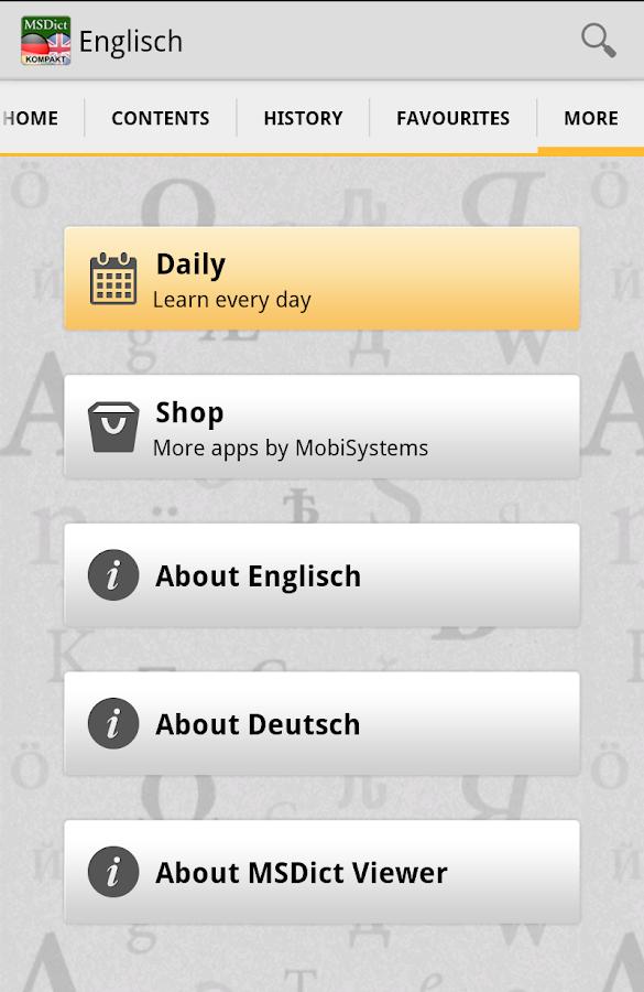 Dictionary German <-> English- screenshot