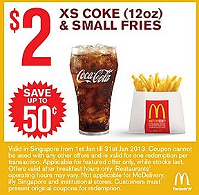 McDonalds $ 2 offer Extra Small Coke Small Fries Sundae $1 Vannilla Cones Burger offers  $5 Double McSpicy Burger 9 piece McNugget Double Filet-O-Fish Combo Meals
