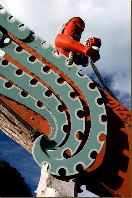 Maori carving waka Kaikoura