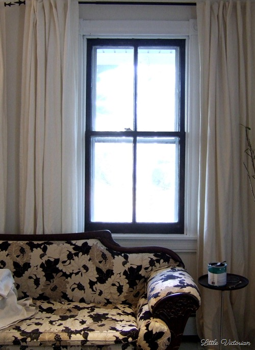 Dark painted windows