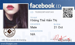 thẻ ID Facebook