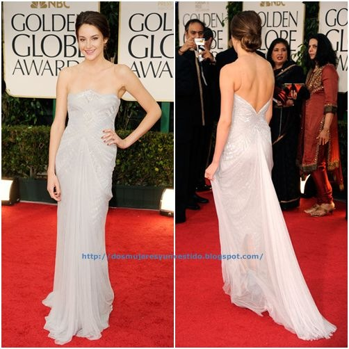 Shailene Woodley arrives at the 69th Annual Golden Globe Awards-a